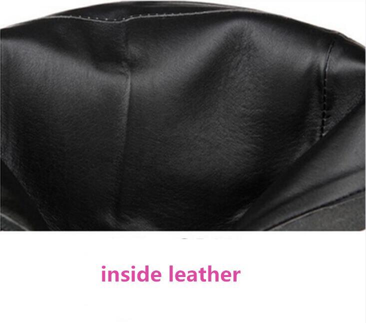 inside inside Confortable En Élégant Et Velvet 2017 Inside Leather 002 001 Talons La Taille Véritable 002 Chaussures Plus Cuir Hauts Bottes Automne À Hiver Femmes Cheville OPXukiZ