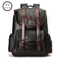 KUNDUI Men Backpacks PU Leather Men S Travel Fashion Man Laptop Bags Casual Business Male College