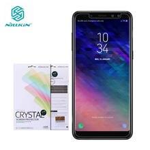 Nillkin-Protector de pantalla para Samsung Galaxy A8 2018, película protectora suave de plástico transparente/mate para Samsung Galaxy A8 Plus 2018