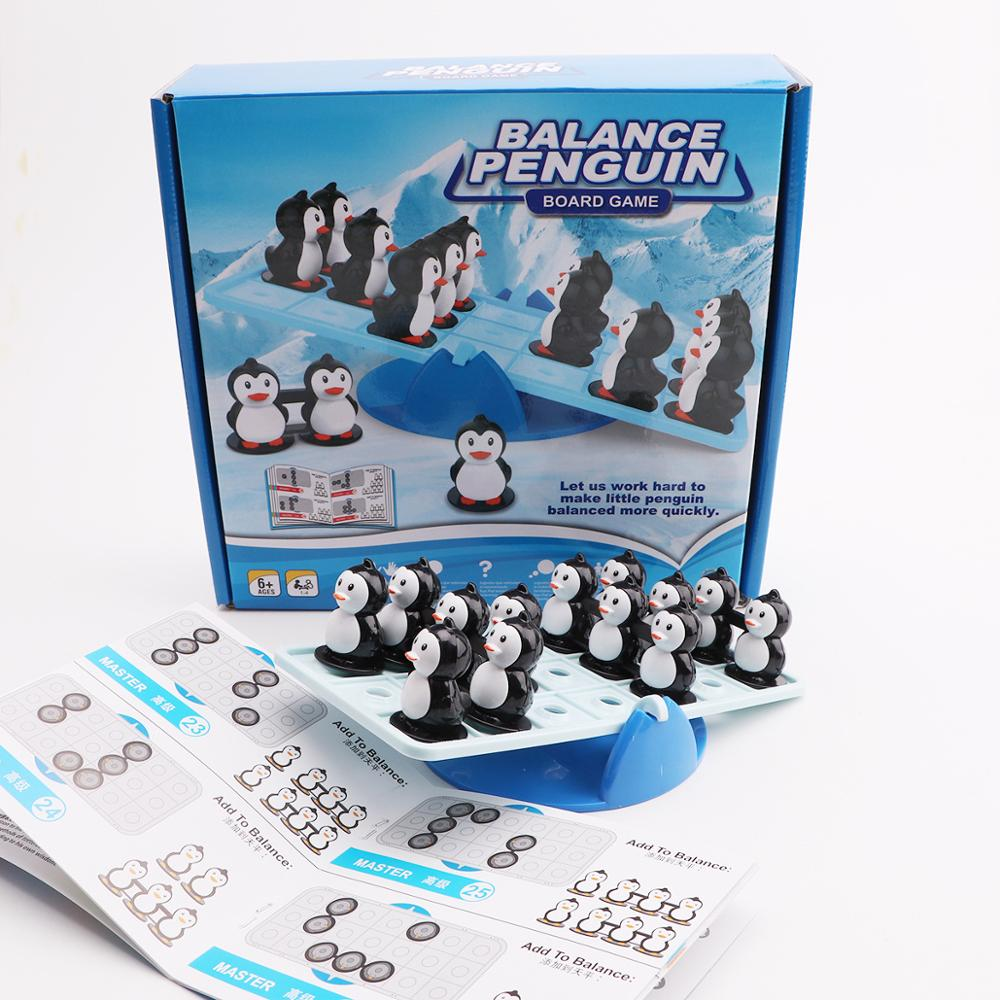 Balance Penguin Intelligence Puzzle game Montessori Mathematics Education Party game for kids Logic Training for Children toys in Party Games from Toys Hobbies