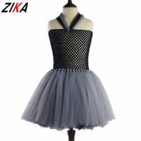 ZIKA Witch Monst Girl Tutu Dress Children Halloween Cosplay Costume Dresses Kids Girl Party Photography Clothes