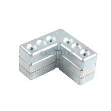 цена на HOT 200PCS Right Angle Metal Corner Braces Aluminum Alloy Doors & Windows Frame Brackets Fastener Fittings Furniture Connectors