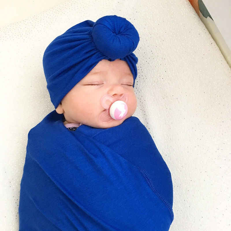 Bebê recém-nascido Da Criança Crianças Bebê Menino Menina Gorro de Algodão Chapéu Morno do Inverno Suave Cap Turbante Branco Preto Roxo