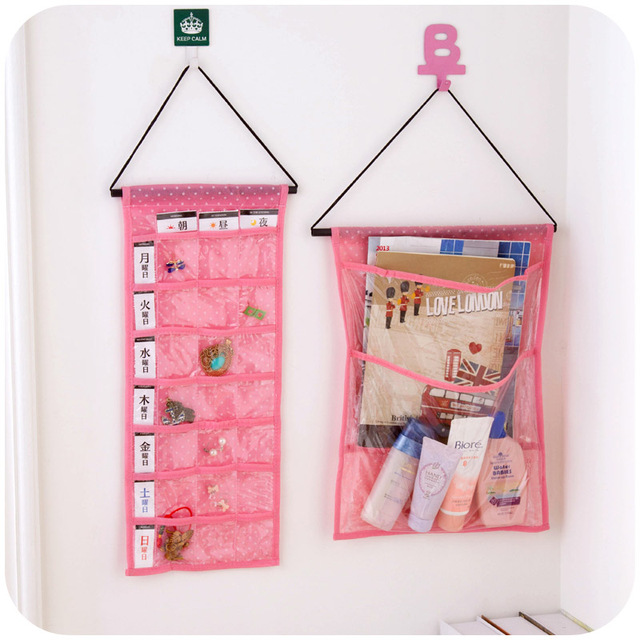 2 Layer or 21 Pocket Hanging Jewelry Organizer Space saving