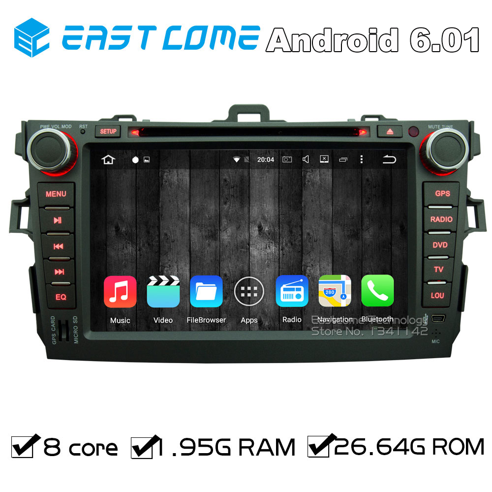 Octa Core 8 Core Android 6.01 Car DVD for Toyota Corolla 2007 2008 2009 2010 2011 With Wifi Radio GPS Navigation Bluetooth