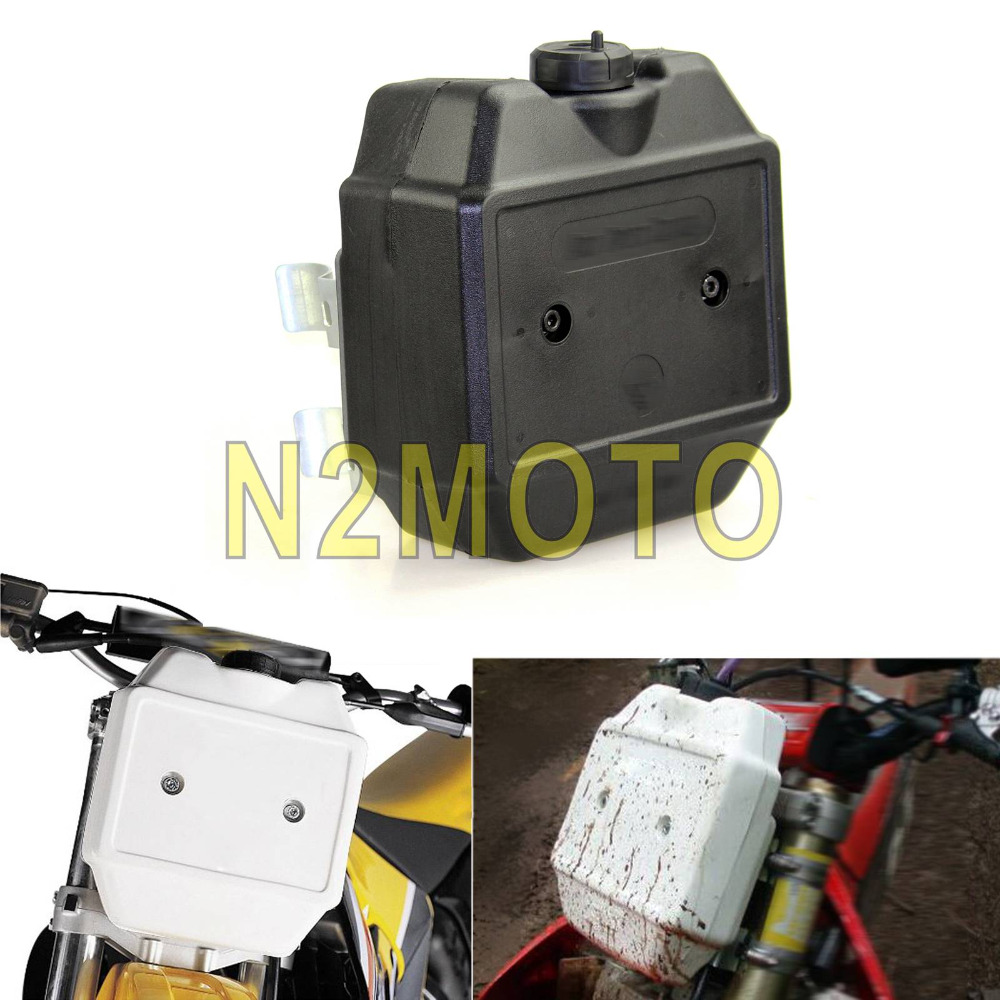 Black Motorcycle Front Auxiliary Fuel Tank Motocross Dirt