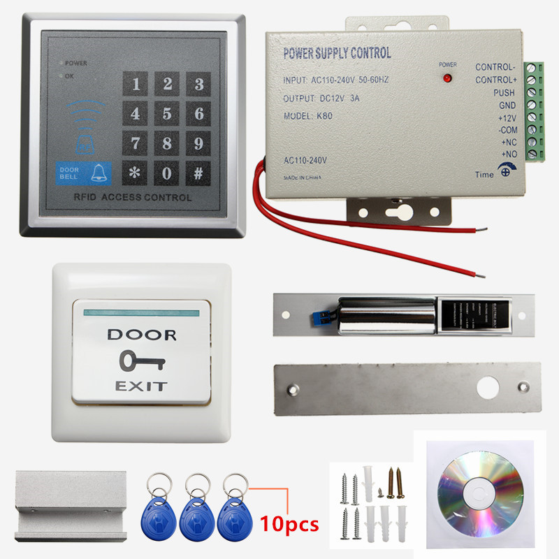 Electric Door Lock Magnetic RFID Access Control ID Password Safty Entry System Access Control System Password Host Controller s 108 no power 1000 set password trouble free 3 digit number cabinet lock access control system password lock hook