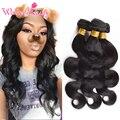 Малайзийский Тело Волна Человеческих Волос Девы Малайзии Волос Weave Natural Black 4 Шт Необработанные Объемной Волны Волос 8-30 дюймов