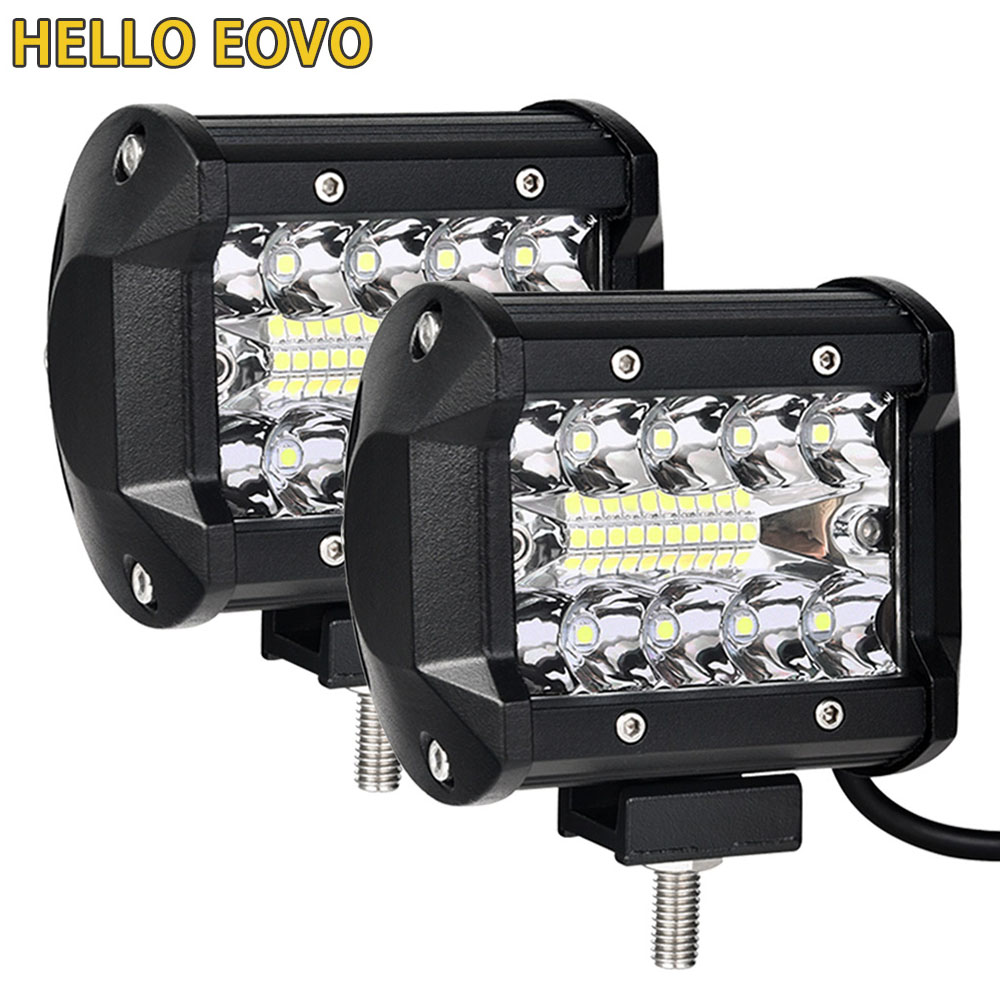 Barra de luces LED de 4 pulgadas para conducir fuera de carretera barco coche Tractor camión 4x4 SUV ATV 12 V 24 V nominal 60 W real 15 W