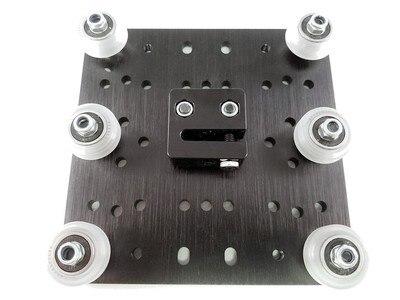 цена на Funssor Quality C-Beam Gantry Plate XLarge set v wheel +TR8*8 anti backlash nut kit For DIY CNC Machine Reprap 3D Printer