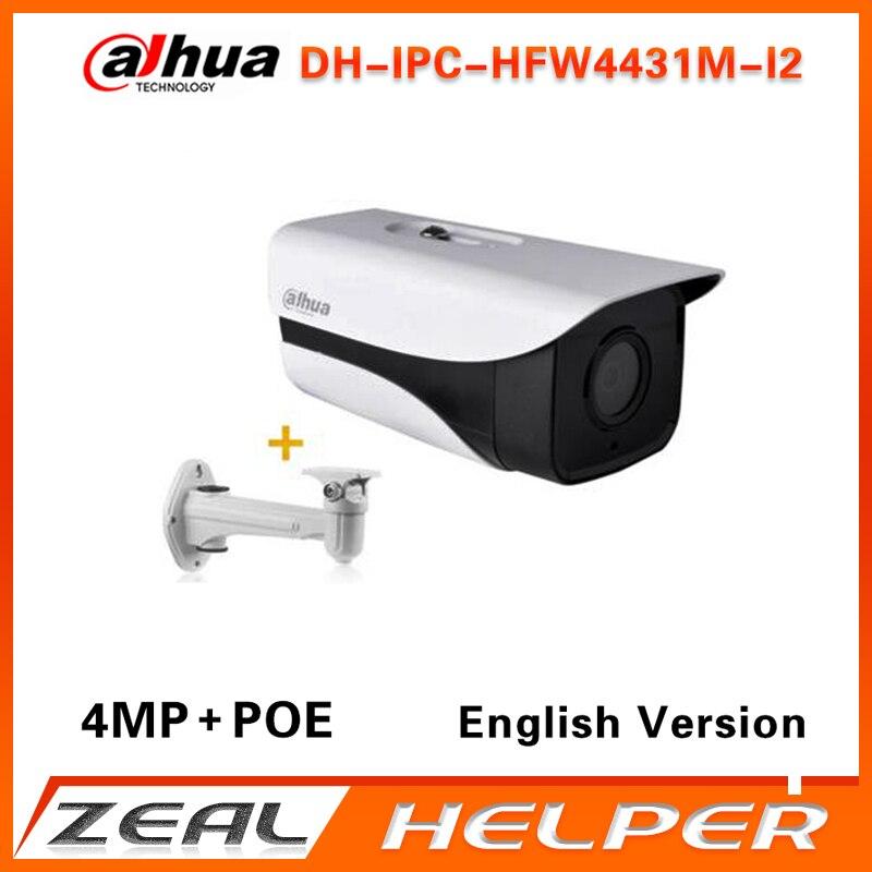 imágenes para Dahua IPC-HFW4431M-I2 reemplazar IPC-HFW4431D y IP-HFW4421D $ NUMBER MP IP PoE Onvif de Red al aire libre IR Mini Cámara de La Bala Con El Soporte