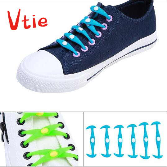 b910699370b5 No Tie Shoelaces Silicone Flat Elastic Athletic Running Shoe Lace