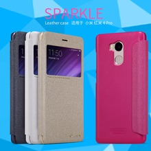 Xiaomi redmi 4 pro case Xiaomi redmi 4 prime case cover Nillkin sparkle leather case for Xiaomi redmi 4 pro prime