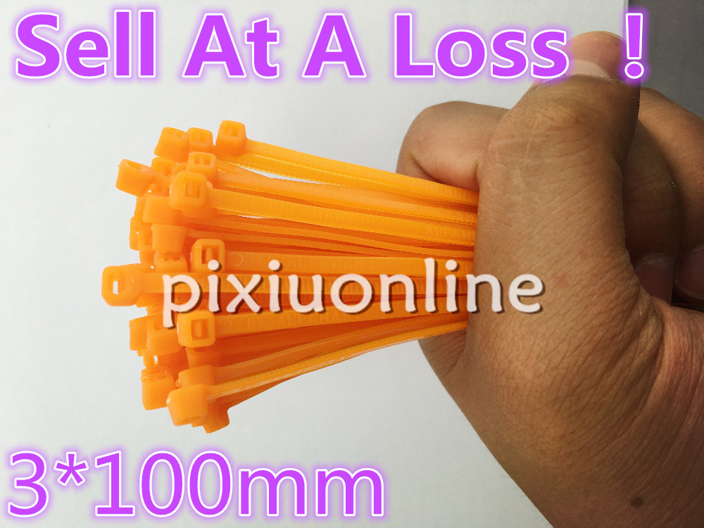 100pcs DS109B Carrot Color Self-locking Cable Ties 3*100mm Width 2.5mm Length 100mm Nylon Cable Zip Tie Sell At A Loss USA 2 5 x 100mm self locking nylon cable zip ties black 100 pcs