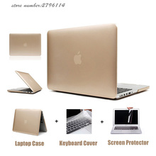 2017 hot Rose Gold Matte Metal Color Laptop Hard Case for Macbook Air 13 12 11 New Mac book Pro 13 15 With Retina Display Cover