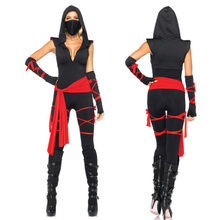 Sexy Adult Women Anime Masked Ninja Warrior Costumes Halloween Cosplay Masquerade Fancy Dress Costume Plus Size M/XL(China)