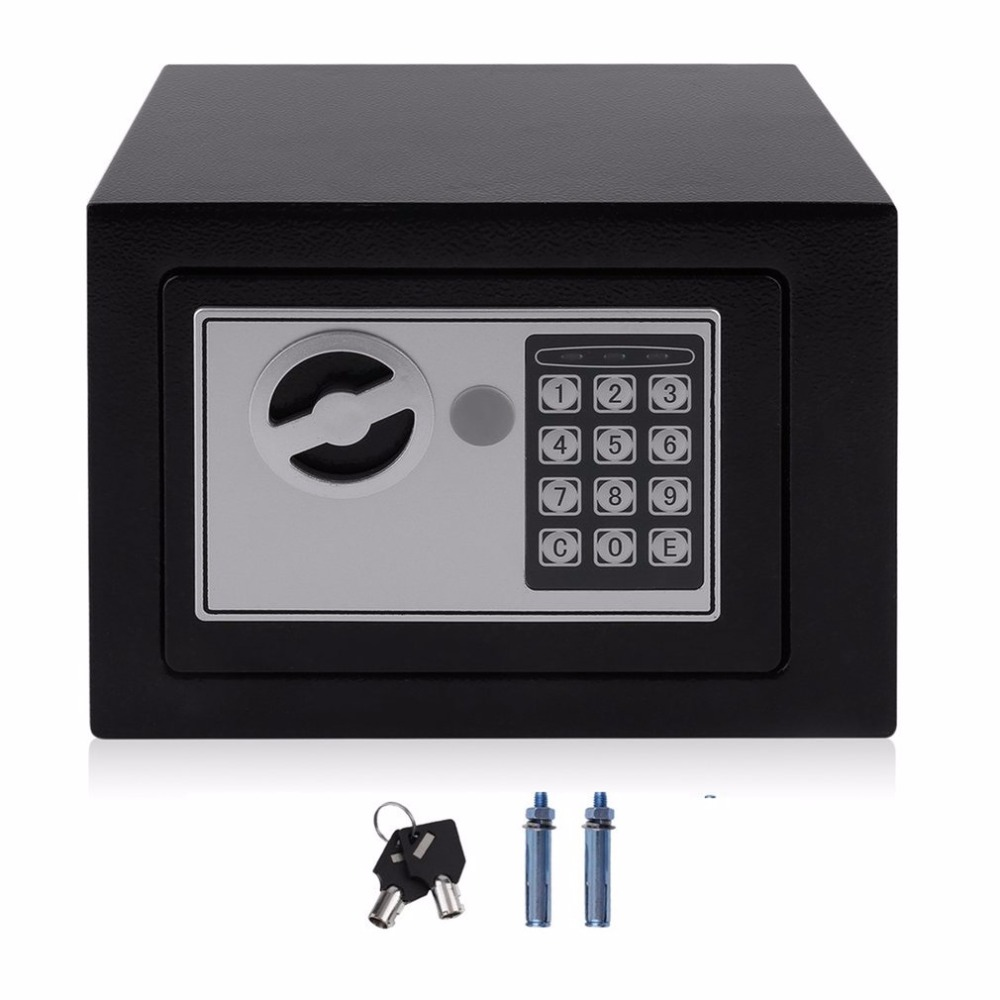 4.6L Strongbox Solid Steel Electronic Safe Box With Digital Keypad Lock Strongbox Mini Lockable Money Cash Jewelry Storage Box(China)