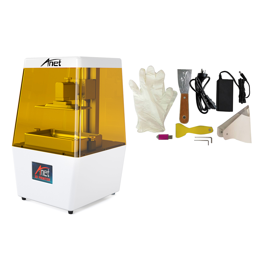 Résine Anet N4 UV LCD SLA imprimante 3D résine/2 K HD 3.5 pouces écran tactile coloré intelligent U disque impression hors ligne/expédition de moscou