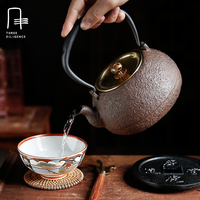 1.1L Nowy Handmade Drinkware Japoński Żeliwny Czajniczek Kung Fu Niepowlekanych Oolong Herbata Pu 'er Garnki Do Gotowania Czajnik Wrzenia Wody