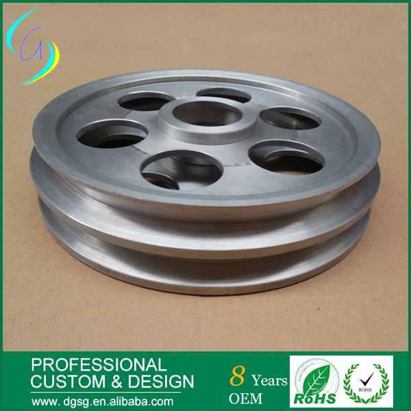 wire rope steel pulley chrome oxide plated steel wire guide pulley for wire industry