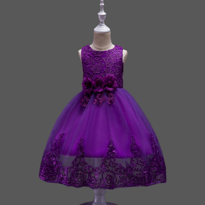 78d813b18175c US $21.02 30% OFF|Christmas Girl Dress Summer 2 7 Years Floral Baby Girls  Princess Dresses Vestidos Wedding Party Baby Clothes Birthday Clothing-in  ...