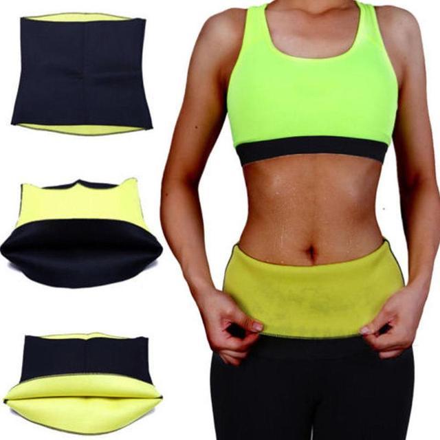 Fitness Women Slimming Waist Belts Neoprene Body Shaper Training Corset Cincher Trainer Weight Loss Burn Exercise Sweat Bodysuit
