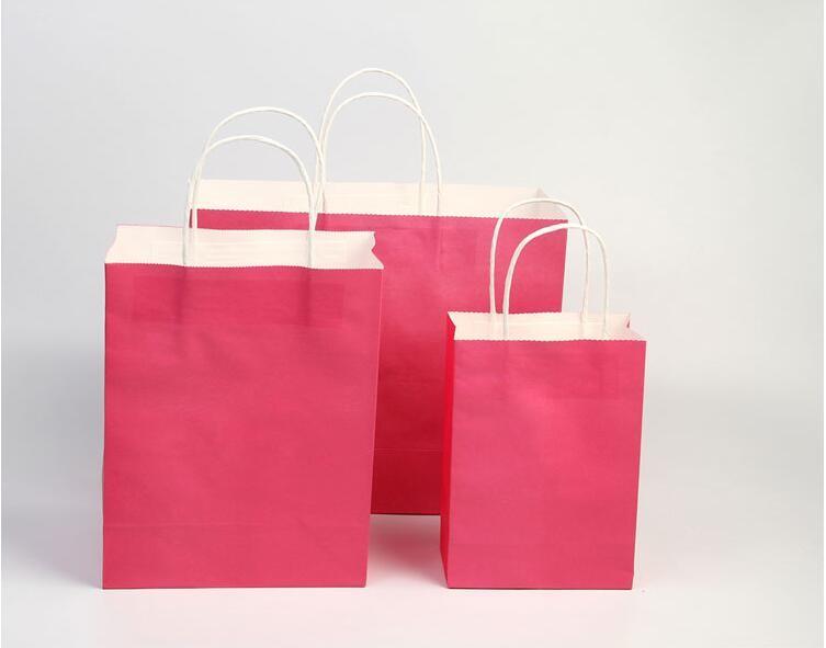 roze papieren zak