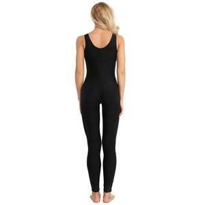 Image 4 - TiaoBug Donne Senza Maniche Elastico Unitard di Yoga di Ballo Body Adulti Ginnastica Body Sport Tuta Pratica di Balletto Dancewear