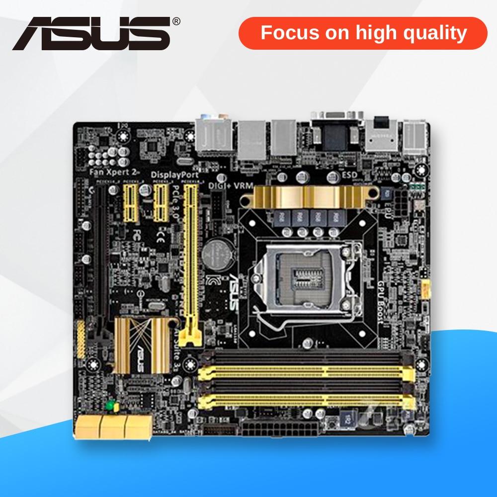Asus H87M-PRO Desktop Motherboard H87 Socket LGA 1150 i7 i5 i3 DDR3 32G SATA3 UBS3.0 Micro-ITX used for asus b85m d plus desktop motherboard b85 socket lga 1150 i7 i5 i3 ddr3 16g sata3 micro atx
