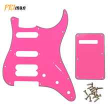 Pleroo Guitar Accessories Pickguard with back plate and screws for Fender Stratocaster Player Humbucker Standard ST HSS Guitarra