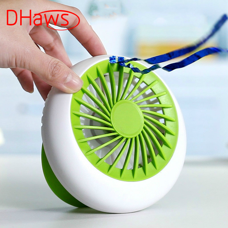 Brilliant Dhaws Rechargeable Fan Usb Portable Desk Mini 1200ma Fan For Electric Air Conditioner Small Fan Angle Adjustment Battery Jade White Home Appliances
