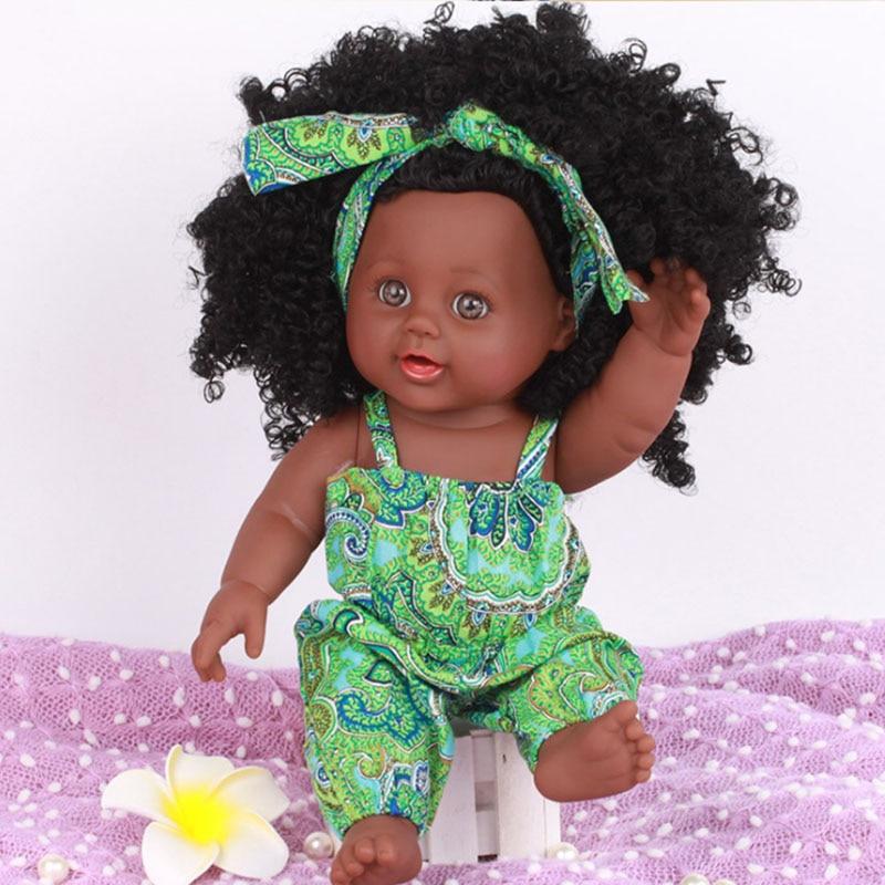 Toys Doll Model Simulation Gift Children for Baby Lol 30cm Asa Girl Black Kid's