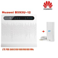 Huawei B593u-12 Unlocked 4G LTE CPE Industrial WiFi Router Sign Random Delivery Plus 49dbi 4G SMA Antenna