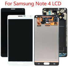 Note 4 LCD Display for Samsung Galaxy Note 4 N910 LCD N910A N910V LCD Digitizer Touch Screen White or Black