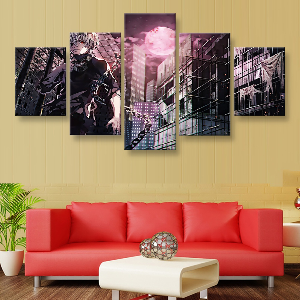 5 Piece Canvas Picture Prints Cartoon Painting Anmie Movie Posters ...