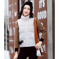 Down Vests 8 Colors Winter Jackets Waistcoat Womens Sleeveless Solid Zipper Coat Overcoat Warm Vests Outwear