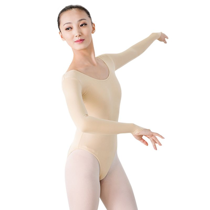 women Long Sleeve ballet leotards for Turtleneck Dance Leotard Sexy Gymnastics Leotard Cotton Adult Ballet Costumes