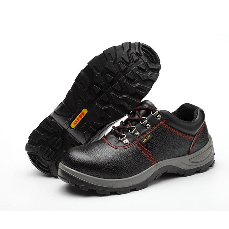 Herren Stiefel Leder 2019 Echtem Leder Männer Arbeiten Stiefel Sicherheit Schuhe für Männer Anti Slip Turnschuhe Schuhe Schutz Schuhe - 5