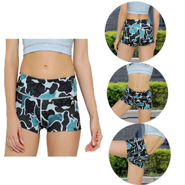 Completo 3D Imprimir Flaco Pantalones Cortos de Alta Stretch Casual Hot Sexy Femenina Aptitud Del Verano Cortocircuitos Calientes Impresos Sexy Pantalones de Entrenamiento