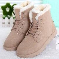 Women Boots New Women Winter Boots Fashion Ankle Up Flats Heels Women Shoes