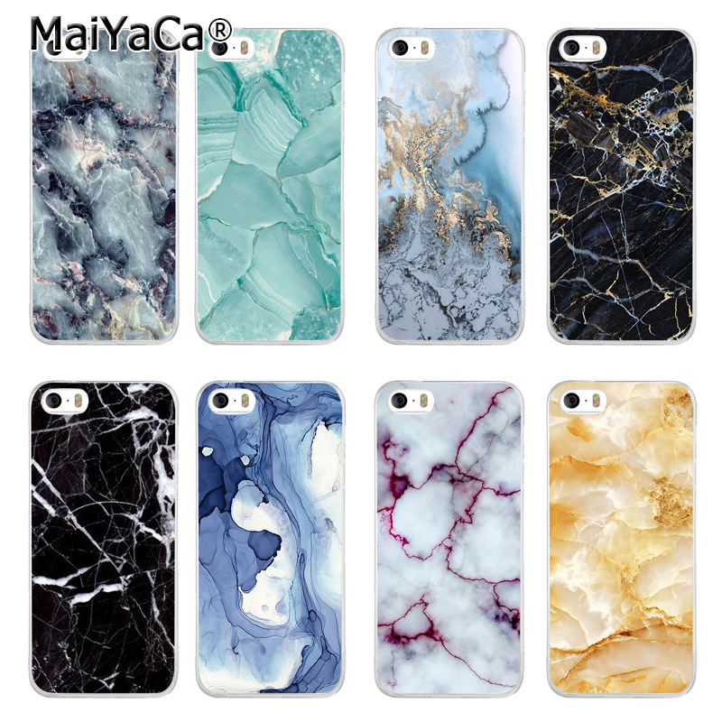 Laumans новый роскошный моды сотовый телефон чехол для iPhone 5 5S SE случае Черное золото Мрамор камень изображения окрашены дизайн