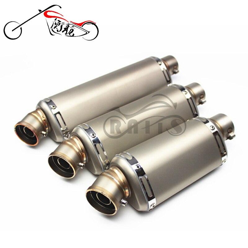 Free shipping Universal Motorcycle Yoshimura Exhaust Muffler Pipe Escape CB400 CBR125 CBR600 YZF Z750 Z800 Z1000 TMAX530 MT07