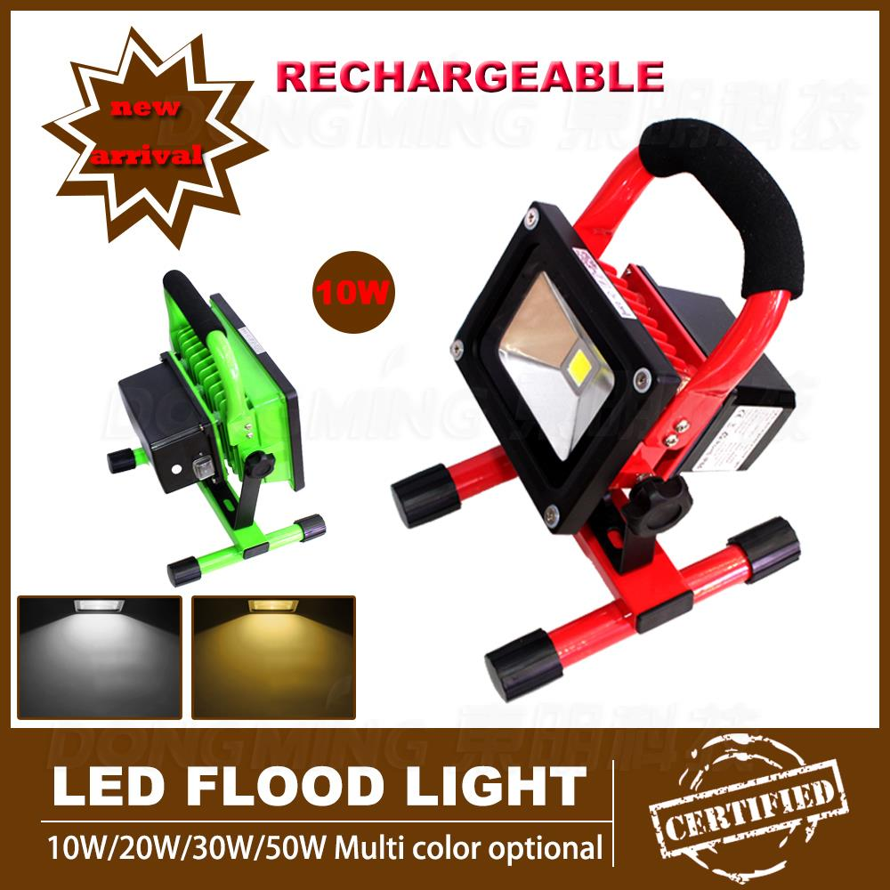 ФОТО High power Rechargeable 10W led Floodlight Spotlight IP65 waterproof outdoor lighting with battery 85-265V CE RoHs