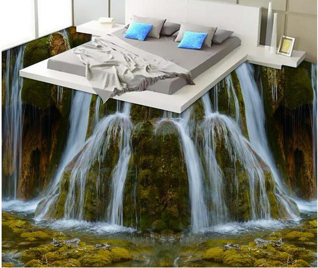Vinyl Flooring Adhesives Custom Wall Paper Rolls Waterfall