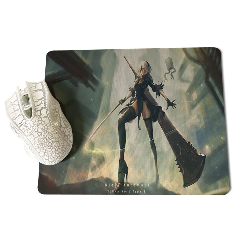 MaiYaCa Vintage Cool Cartoon game Automata Large Mouse pad PC Computer mat Size for 180x220x2mm and 250x290x2mm Rubber Mousemats