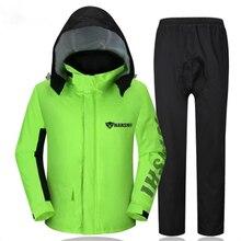 Windproof Mens Rain Coat Waterproof Moto Bicycle Men Raincoat Women Windbreaker Camping Abrigos Hombre Gear Suit 7R0276