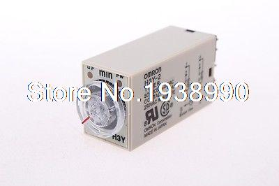 NEW OMRON time timer relay 8pin H3Y-2 H3Y AC220V 5A  0.1min-3min 3min genuine taiwan research anv time relay ah2 yb ac220v