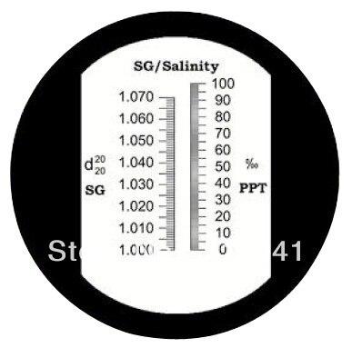 0-10% аквариум Соленость рефрактометр RHS-10ATC