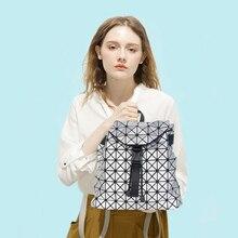 Женщины рюкзак геометрический плед блесток женские рюкзаки для девочек-подростков Bagpack drawstring сумка голографическая рюкзак