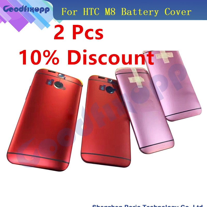 Original New For <font><b>HTC</b></font> One <font><b>M8</b></font> 831C Back <font><b>Battery</b></font> Cover Rear Housing Door <font><b>Case</b></font> With Power Volume Button Key +Rear Camera Glass Lens image